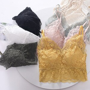 Sexy Full Lace Beauty Back Wrap-Around New Style Small Camisole Tube Top Render Vest Non-Steel Ring Bra Underwear