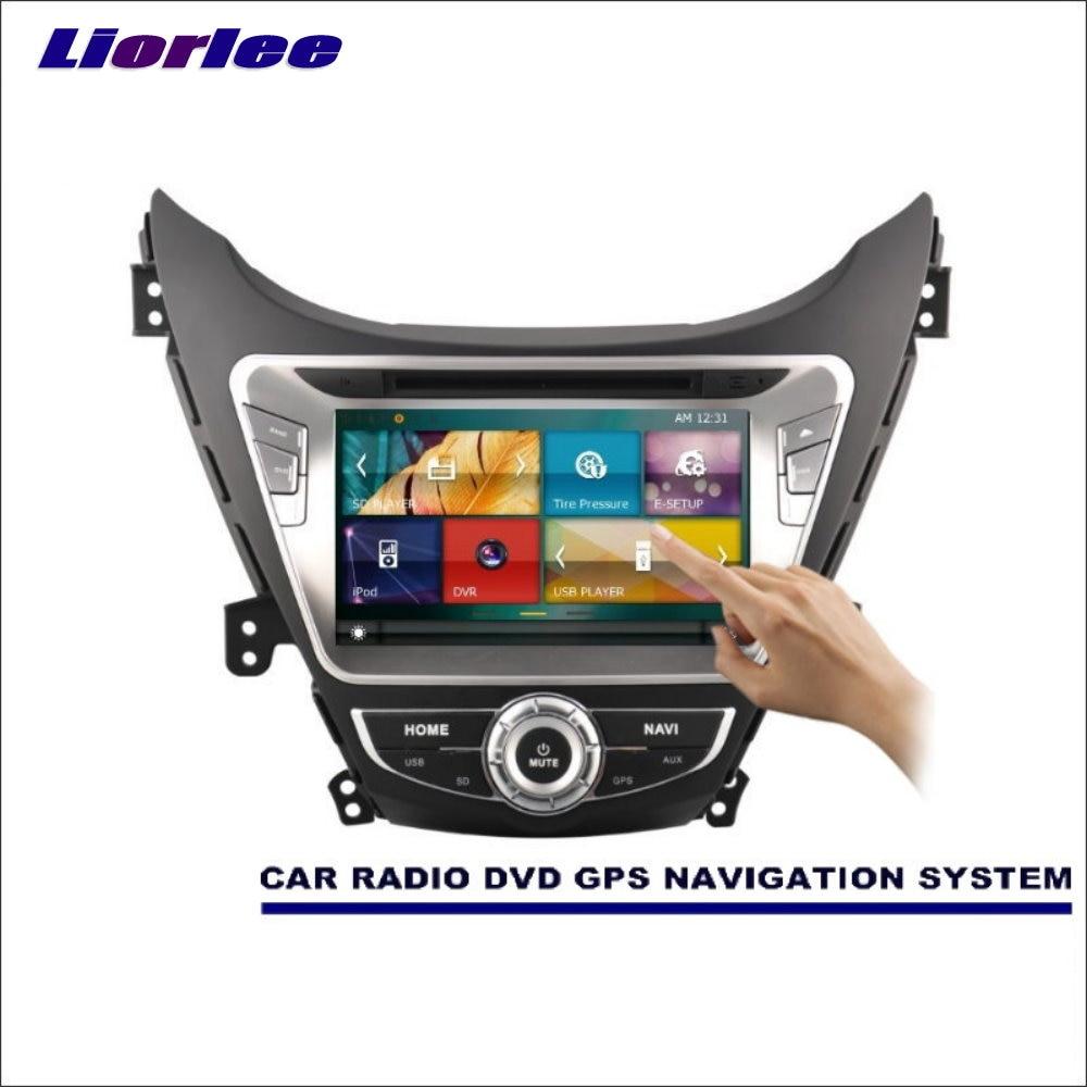 Liorlee Für Hyundai i35 Elantra/Fludic Elantra 2010-2015 Auto Radio CD DVD Player Verstärker HD Screen GPS navigation Audio Video