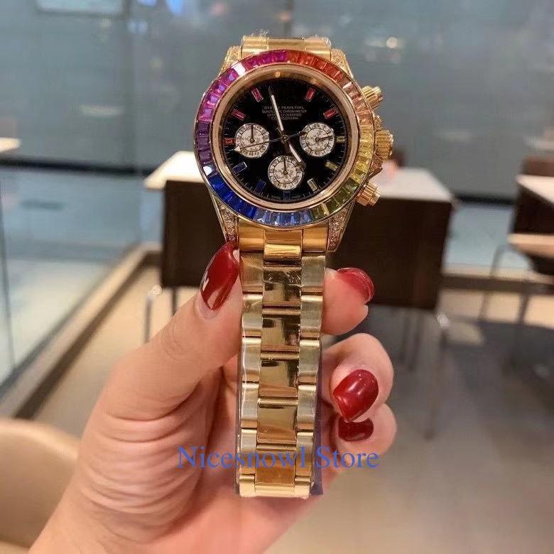 3A top brand Luxury Watch full diamond 18K gold men Watch Waterproof Automatic Mechanical Watch Stainless Steel Automatic watch