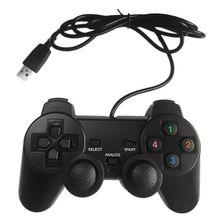 USB Wired Gamepad Joystick Single/Double Vibration Joypad Game Controller Handle for PC Laptop Compu