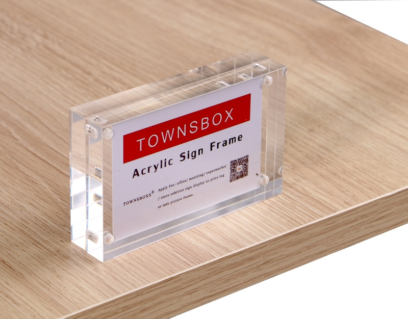 1pc 5 6 7 8 inch clear acrylic photo frame magnetic picture photo poster display frame for table sign price tag label promotion Clear Magnetic Menu Price Card Display Stand 100*70mm Double Sided Acrylic Photo Picture Table Desk Poster Sign Holder