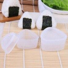 2 Pçs/set DIY Prima Alimentar Triangular Sushi Rice Ball Mold Onigiri Sushi Fabricante de Moldes Sushi Japonês Kit Cozinha Bento Acessórios #