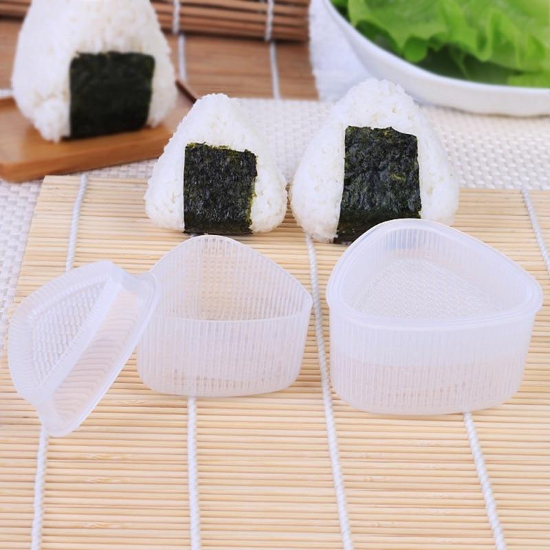 2 unids/set DIY molde para Sushi Onigiri, Bola de arroz, prensa para alimentos, molde Triangular para Sushi, Kit de Sushi, cocina japonesa, accesorios Bento #