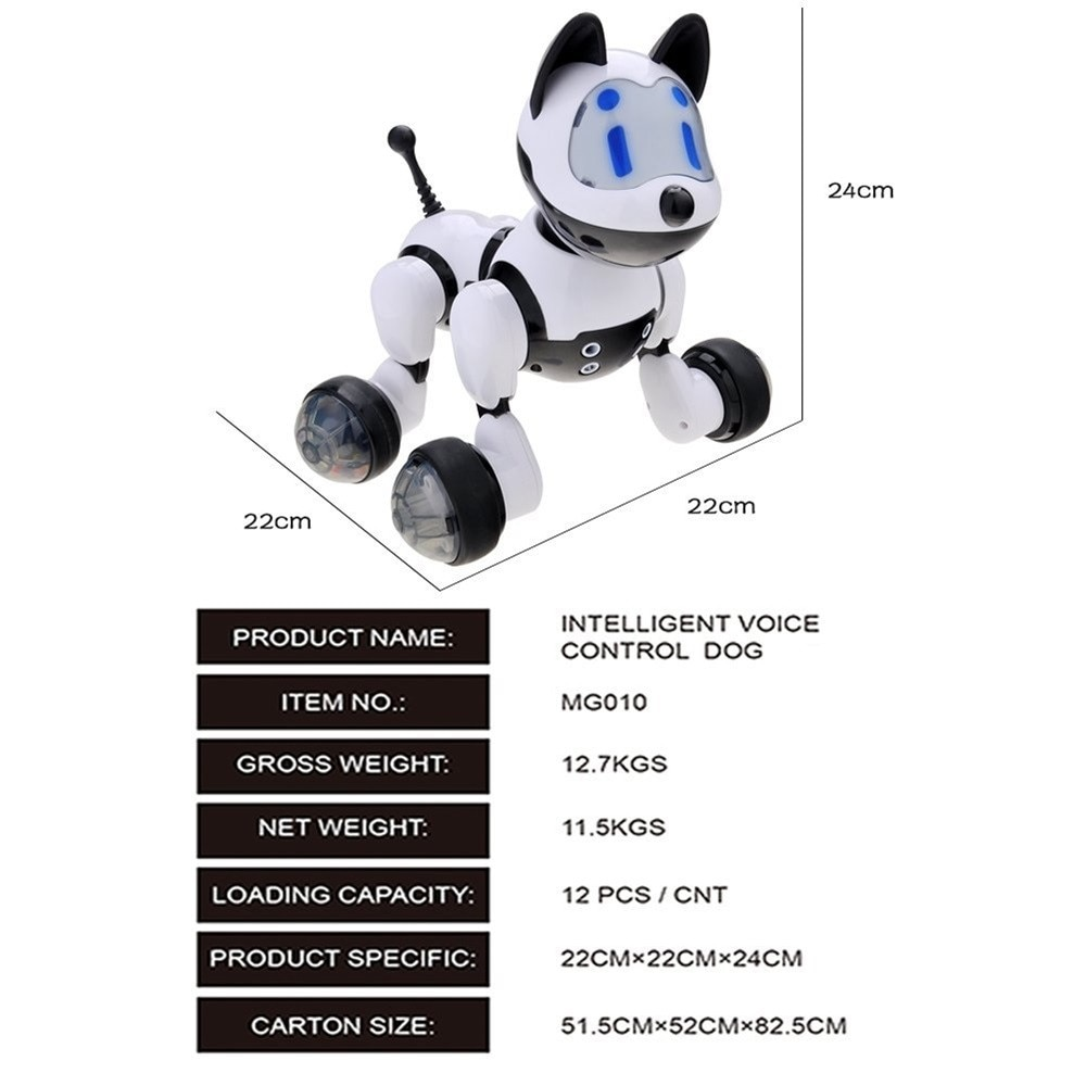 Voice Control Voice Activated Robot Dog Electronic Toy Interactive Doggy Robot Puppy Music LED Eyes Flashing Action Toy enlarge