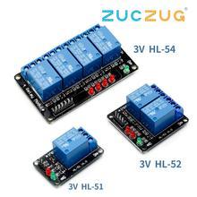 1 pièces 1 2 4 canaux 3V relais Module 3.3V bas niveau de tir avec lampe