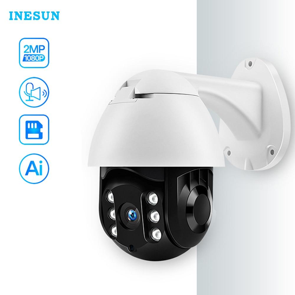 Inesun-كاميرا أمان خارجية لاسلكية ، 1080P HD ، WiFi ، PTZ ، IP ، مقاومة للماء ، تتبع تلقائي ، تخزين سحابي للصوت ثنائي الاتجاه