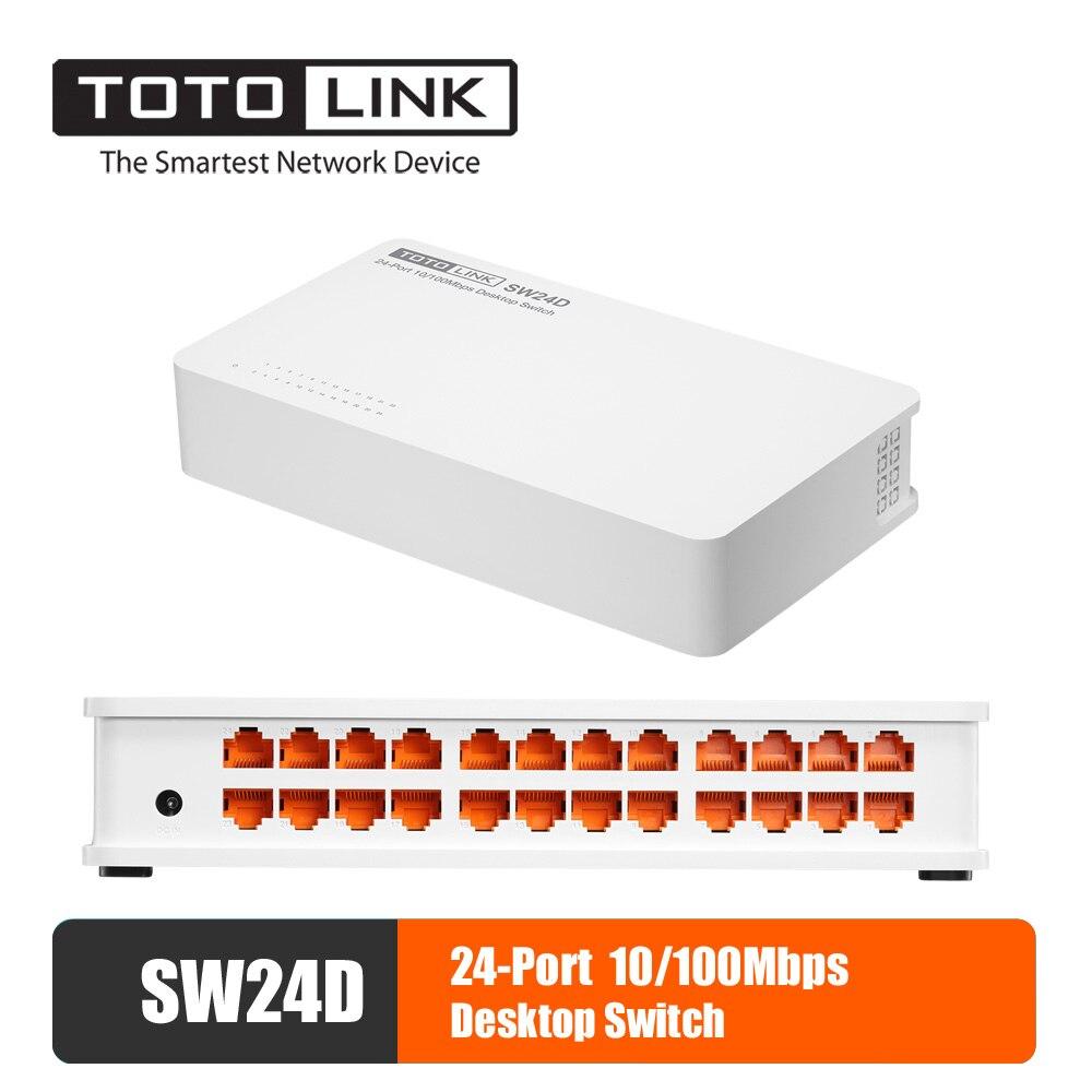 Conmutador Hub de Ethernet Lan de sobremesa TOTOLINK SW24D, interruptor de red rápida de 24 puertos Gigabit, intercambio dúplex