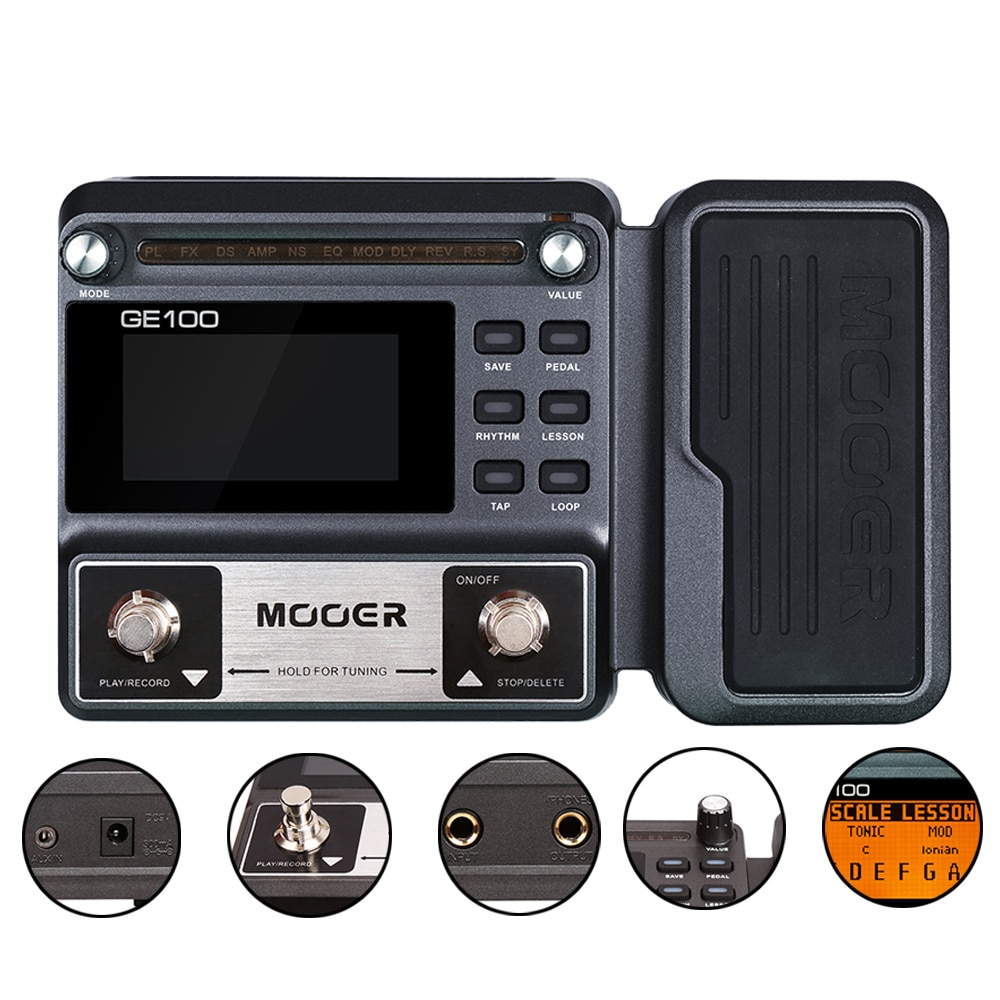 MOOER GE100 Reverb Pedal Guitar Tuner Electric Guitar Pedals Stringed Instruments Musical Sports Entertainment PE100 enlarge