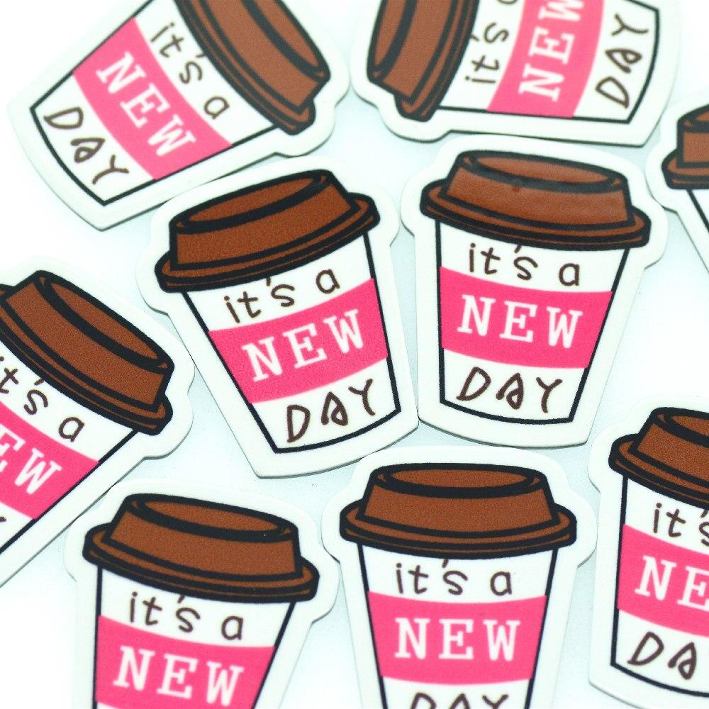 Фото - 10 шт. 30 мм x 37 мм акриловая кофейная чашка Planar | Чашки для мягких напитков миниатюрные | Акриловые кофейные чашки Кабошоны 30 шт разнообразные кабошоны 10 11 мм