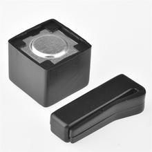 Accessoire billard piscine poche billard magnétique Mini noir ceinture pince poudre Portable billard queue porte-craie pointe plastique billard