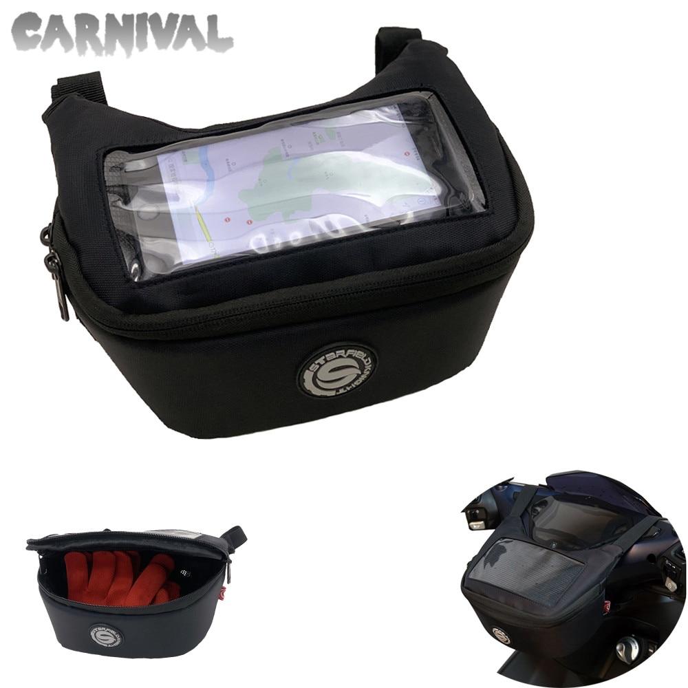 Aprilia MP3-250 MP3-300 MP3-400 SRV850 manillar de la motocicleta GPS de navegación de teléfono móvil bolsa impermeable