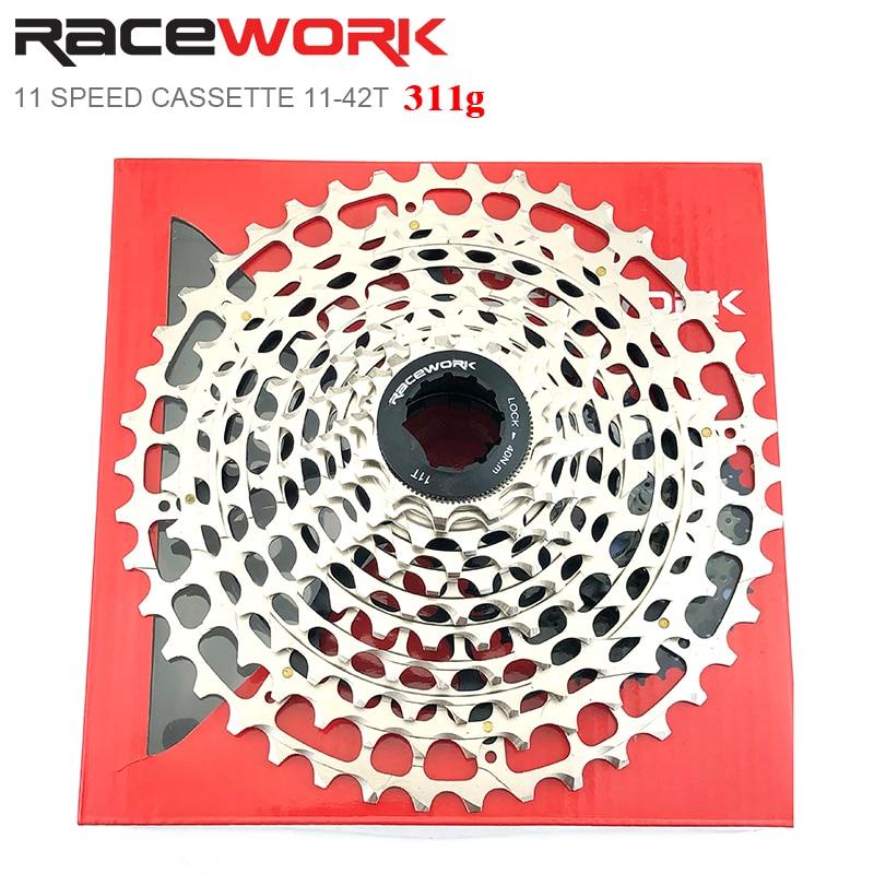 RACEWORK M8000 11 Speed Cassette 11-40/42T Ultralight MTB Mountain Bike Flywheel 311g For Shimano HG System