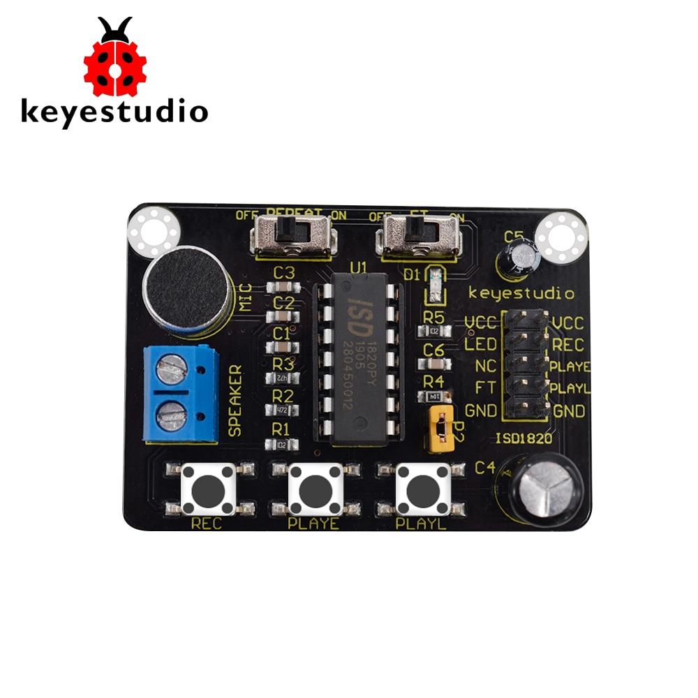 Módulo de reproducción de sonido de grabación de voz Keyestudio ISD1820 con micrófono de Audio de sonido Mic para Arduino