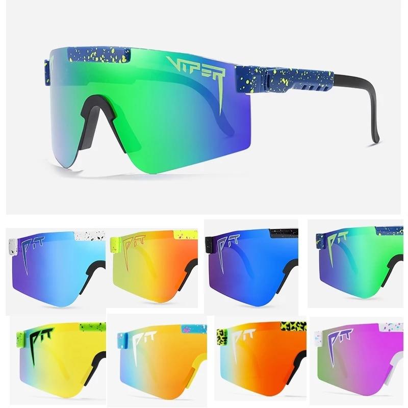 2021 New Fashion Classic Gunglasses Mirrored Green lens Pit Viper Men Sunglasses Polarized for Women TR90 Frame UV400 Protection