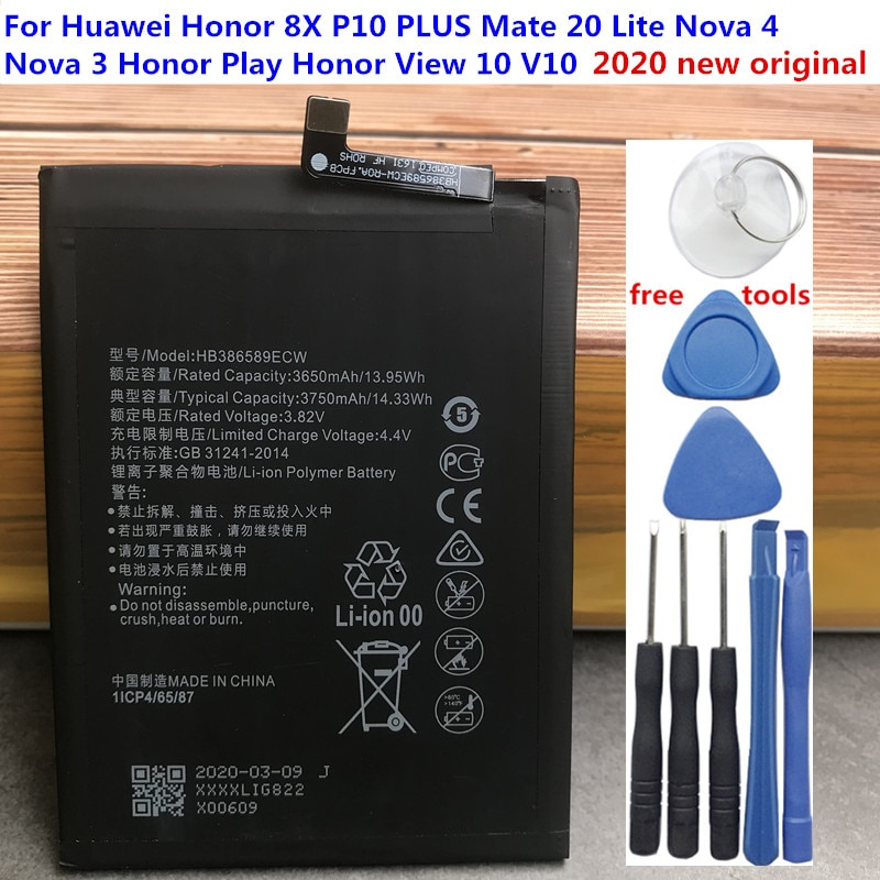 2020 Original New 3750mAh HB386589ECW Battery For Huawei Honor Play COR-L29 COR-AL10 COR-TL10 COR-AL00 Batteries + Tools cor sine labe doli галстук