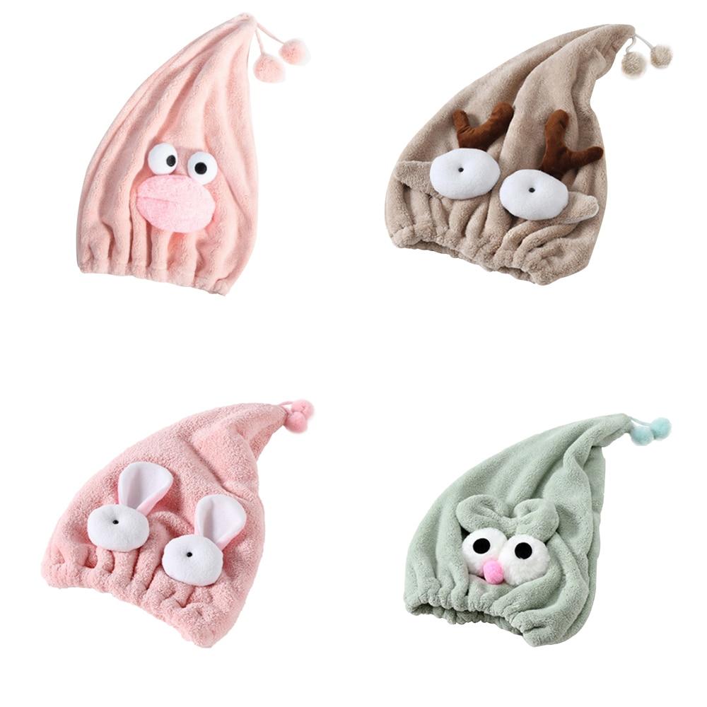 Lindo Animal bordado Super absorbente seco gorro de ducha de secado rápido fuerte absorbente secado Ultra suave protección sombrero de baño