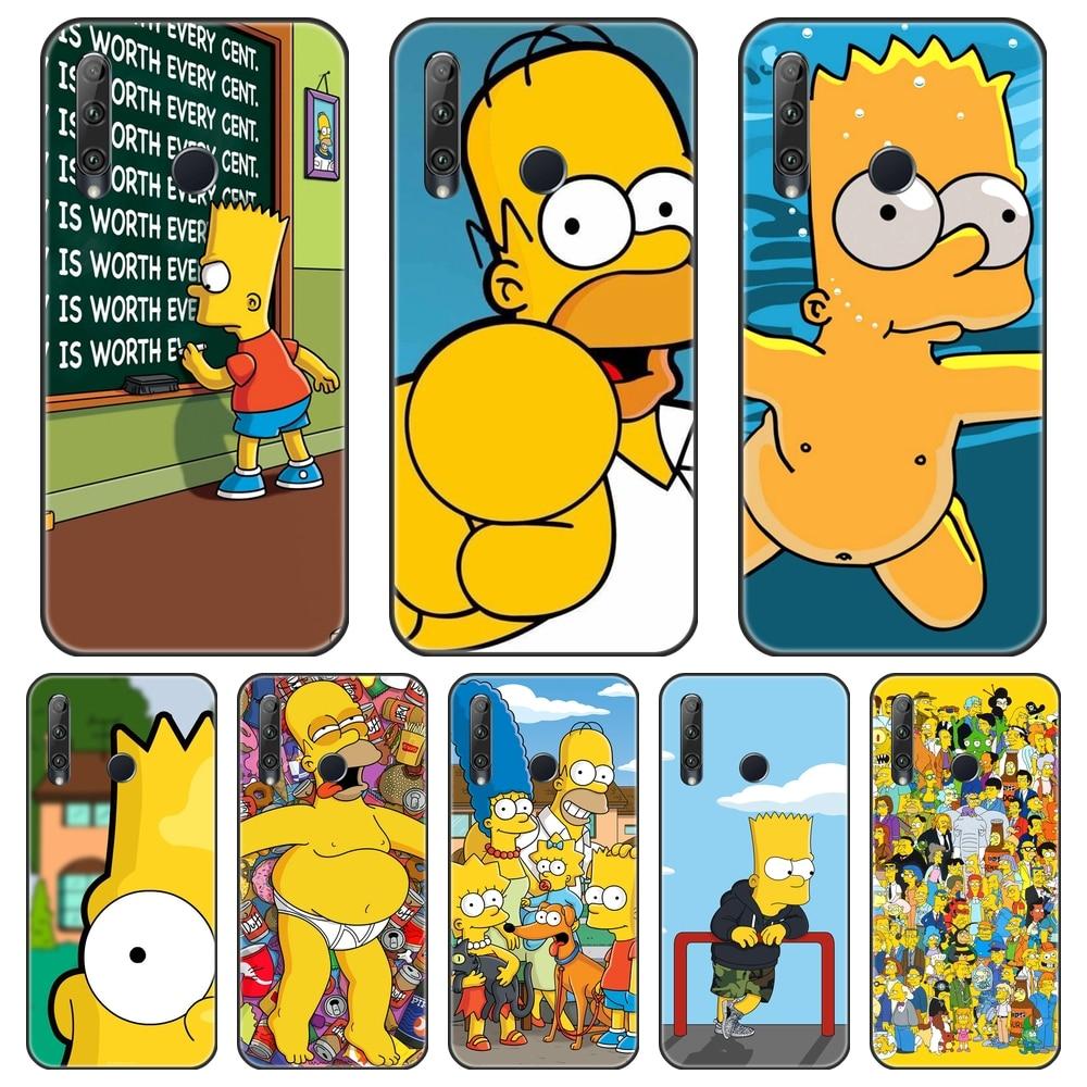 Homero J Funda trasera Simpsons para Huawei Honor 8S 8A Pro V20, funda de silicona suave para teléfono Huawei Honor 10i 20i 20 Lite Pro