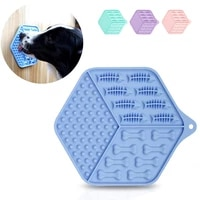 hexagon pets dog lick mat dogs slow feeders lick pad for anxiety relief boredom buster pet training licking mat dog cat gift