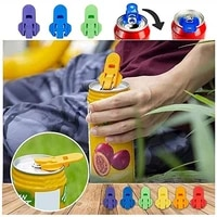 easy can opener 6pcs pack plastic drink cover can protector soda cans bottle opener 6 colors easy to use home accessories