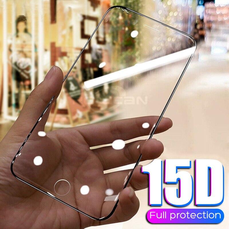 15D Schutz Gehärtetem Glas Auf Die Für iPhone 6 6s 7 8 Plus X 10 Glas Screen Protector rand Gebogene Für iPhone XR XS MAX