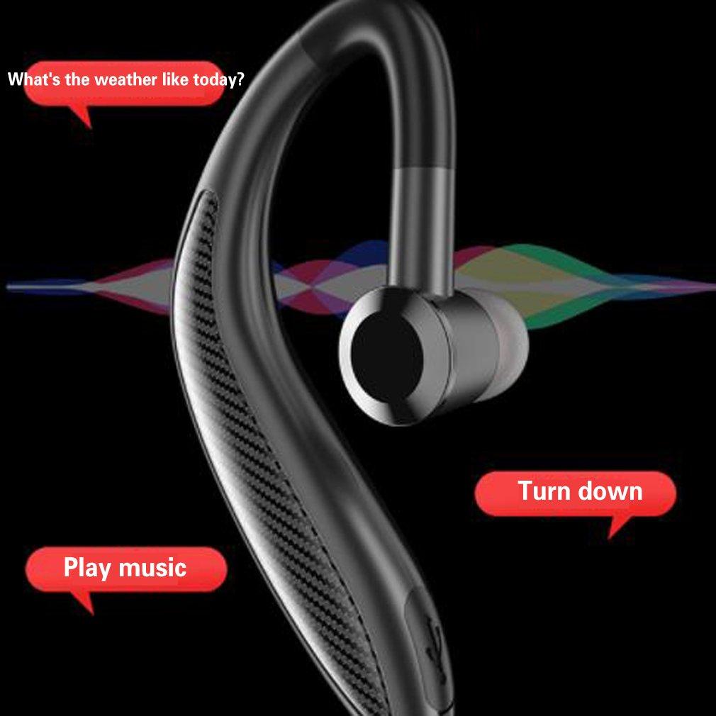 Wireless Headset Noise Canceling Earpiece V5.0 With Mute Key Hands Free Ultralight...