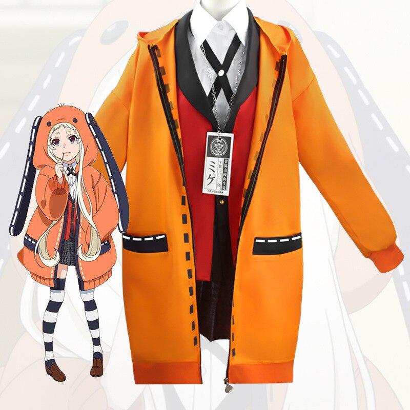Аниме Kakegurui компульсивные толстовки Runa пальто для игры в игры толстовка с капюшоном EarPajamas Runa Yomozuki косплей костюм одежда для сна куртка на Хэ...