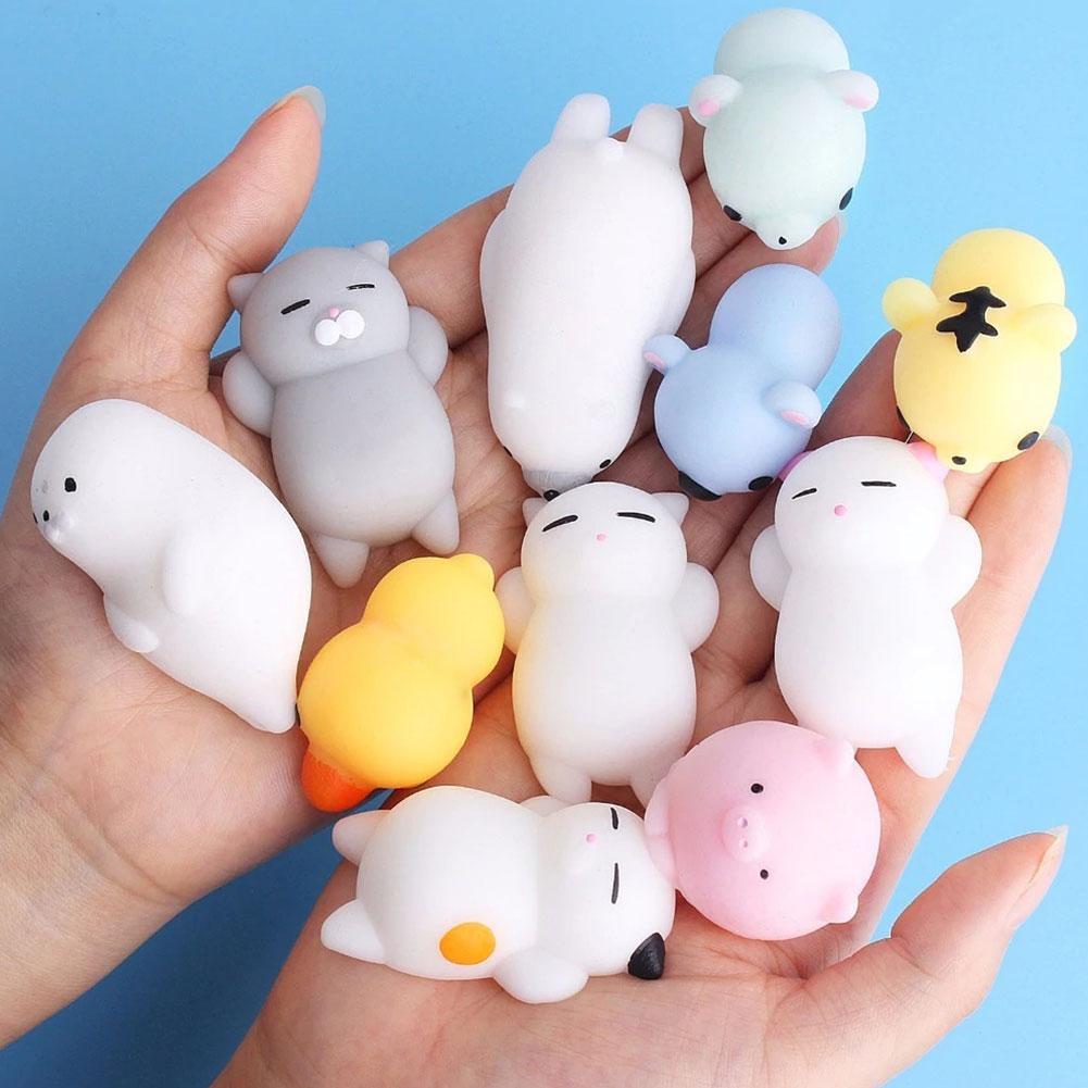 Jouet à presser 1 pièce, jouet à secousse lente, Animal mignon à main, anti-Stress, décoration de bureau, cadeau pour amis