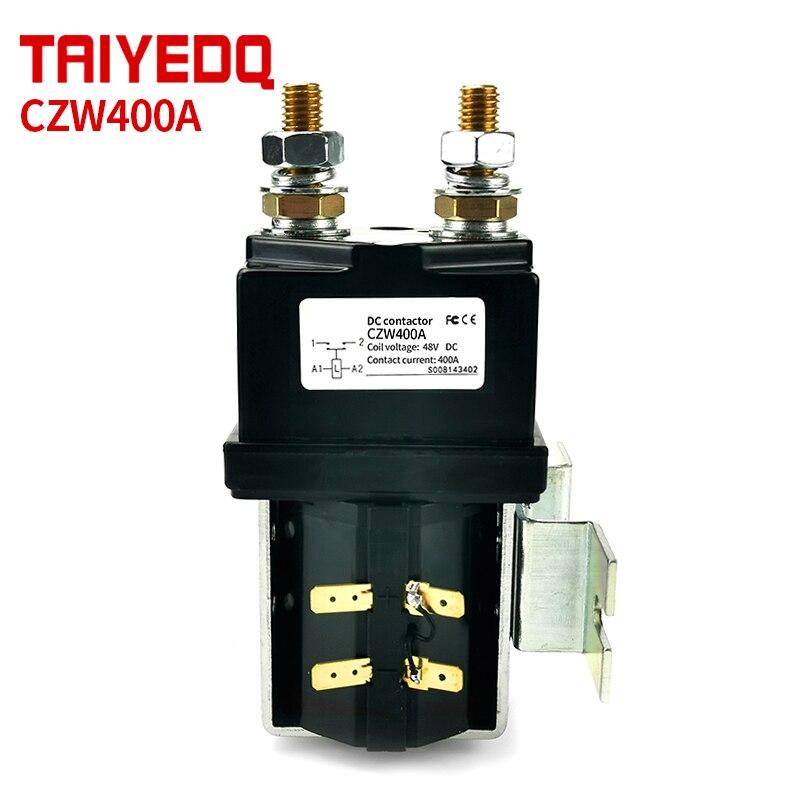 CZW400A تيار مستمر قواطع عادة مفتوحة تيار مستمر قواطع لآلات البناء معدات الاتصالات 12 فولت 24 فولت 36 فولت 48 فولت 60 فولت 72 فولت