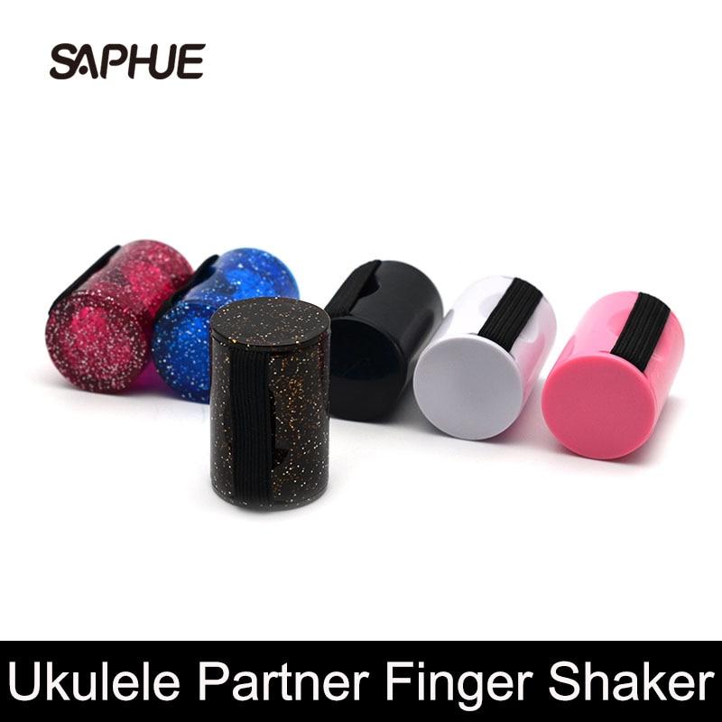 Ukelele Partner agitador de dedos tiro anillo rítmico arena campana sonido huevo Shaker martillo para guitarra ukelele