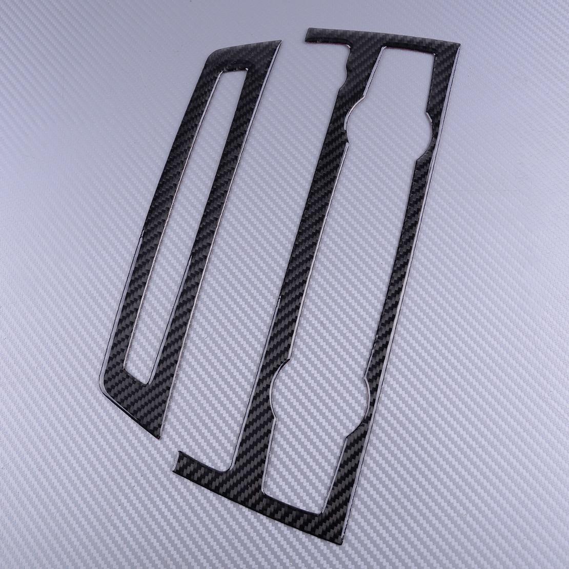 Panel embellecedor de cubierta de CD de aire acondicionado de consola de coche negro de fibra de carbono DWCX para BMW X5 E70 X6 E71 2008 2009 2010 2011 2012 2013