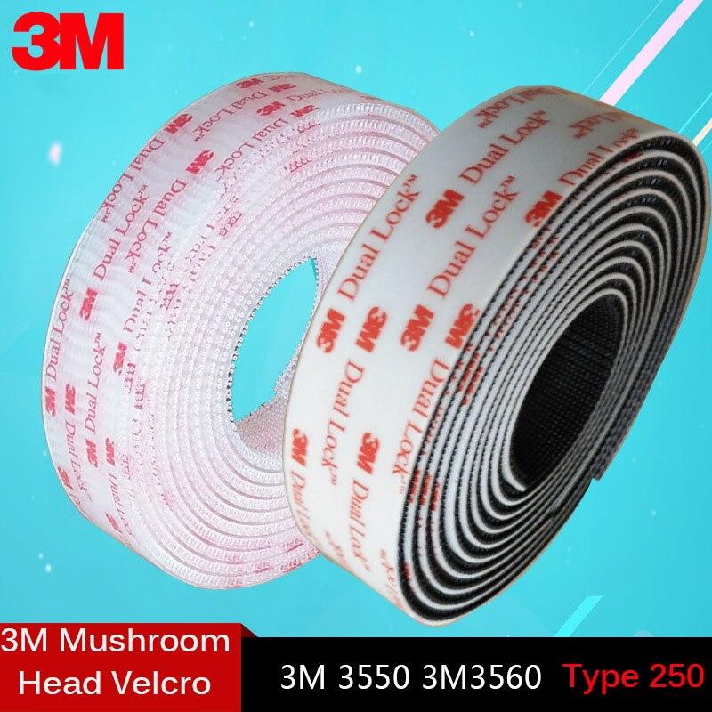Adhesivo de seta transparente, 1 metro, 3M, doble bloqueo, SJ3550, negro y...