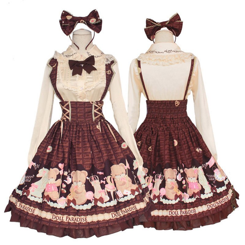 Zhomecos, Chocolates, disfraces de princesa Lolita, vestido lindo de oso para niñas, mujer, uso diario