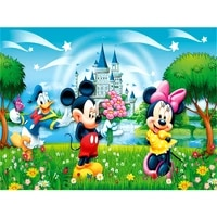 Peinture diamant theme Disney Mickey Mouse  Kit complet 5D  broderie ronde  amoureux des dessins animes  points de croix  mosaique  decoration de la maison