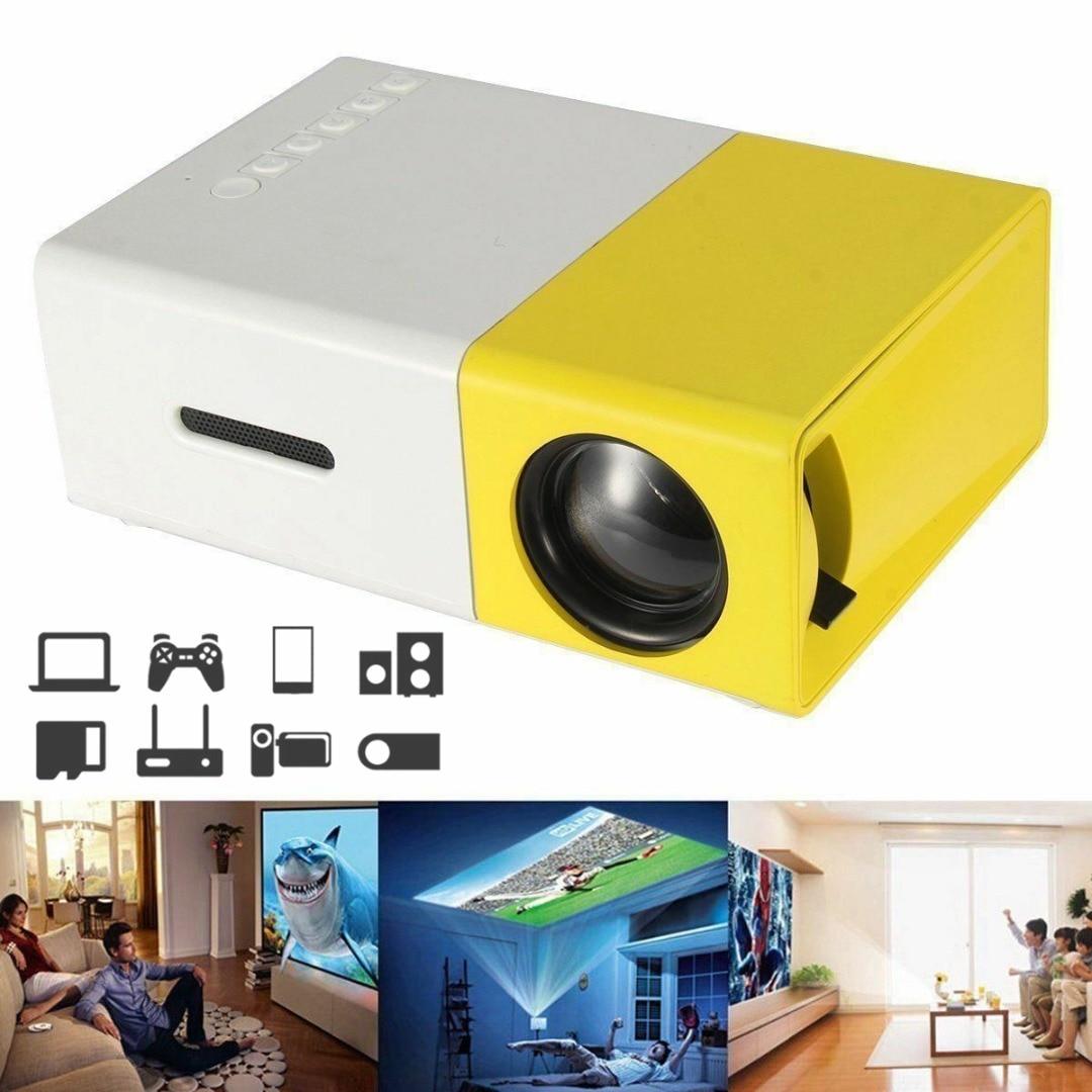 Nuevo proyector portátil de Audio para reproductor de Video doméstico Mini proyector LED de bolsillo 1080P AV HDMI Multimedia cine en casa