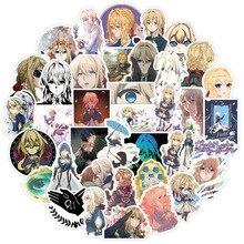 Pegatinas de Anime japonés Evergarden, pegatinas de dibujos animados, grafiti, impermeable, para equipaje, coche, Notebook, teléfono, portátil, juguete, 10/30/50 Uds.