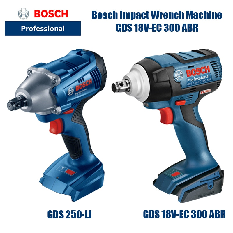 Bosch GDS 18V-EC 300 ABR Cordless Electric Wrench Driver Lithium Screwdriver Screwdriver Brushless (
