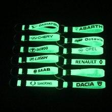 New Luminous Silikon Keychain Auto Schlüssel Ring Für Renault Opel Dacia Saab Chery Ssangyong Daewoo Lifan Octavia Abarth Auto Styling