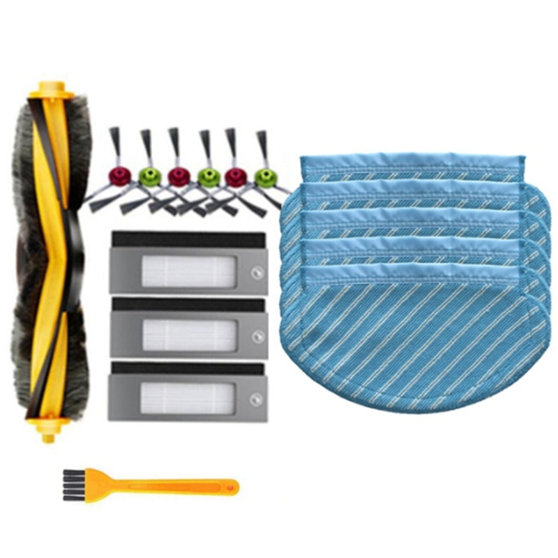 Roller Side Brush Filter Kit for Ecovacs Deebot OZMO 950 920 Vacuum Cleaner Part Replacement Accessories