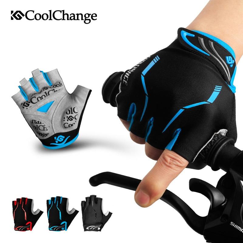 CoolChange-Guantes de ciclismo de medio dedo para hombre y mujer, Protector de...