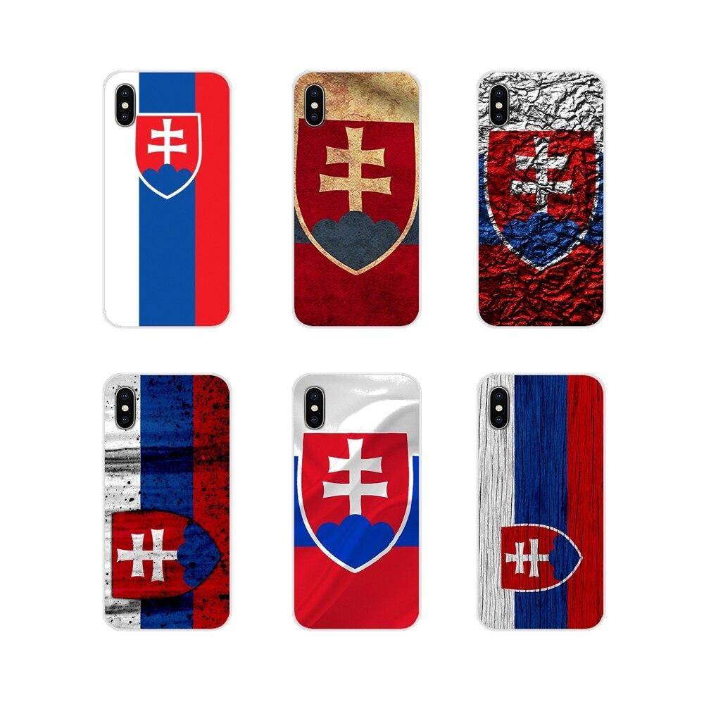 Soft Transparent Case Cover slovak Slovakia flag For Huawei G7 G8 P7 P8 P9 P10 P20 P30 Lite Mini Pro P Smart Plus 2017 2018 2019