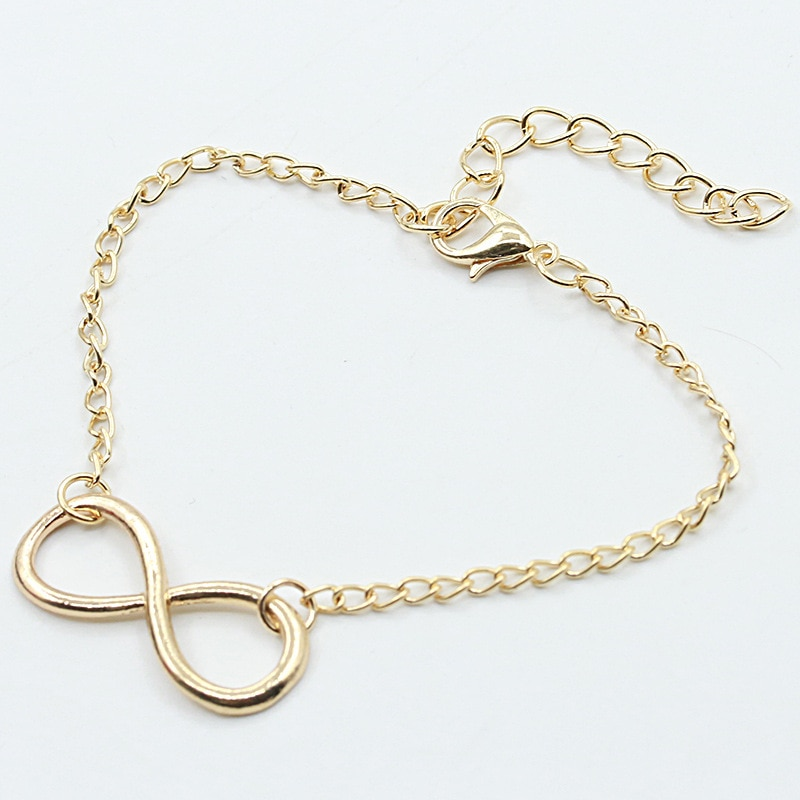 New 8 Word Buckle Metal Bracelet Simple  Personality Female Bracelets Fashion Jewelry Vintage Bracelet Black Hand Chain Jewelry