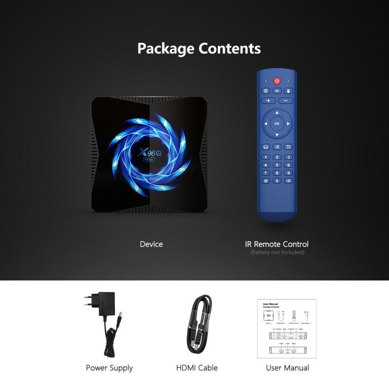 تي في بوكس أندرويد X96q ماكس صندوق التلفزيون أندرويد 10 4gb 64gb 4k Tvbox Allwinner H616 2.4g/5.0g واي فاي BT5.0 يوتيوب 4k مجموعة جديدة قمة مجموعة صندوق