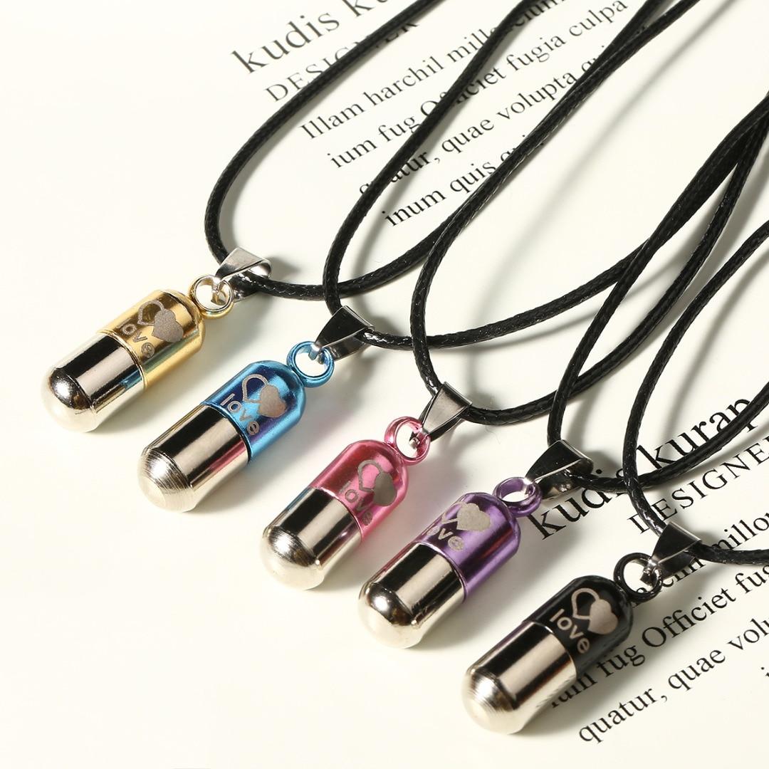 Винтажное классическое металлическое ожерелье для женщин и мужчин с кремацией в виде урны, простой двойной держатель в форме сердца для золы, ожерелье для таблеток
