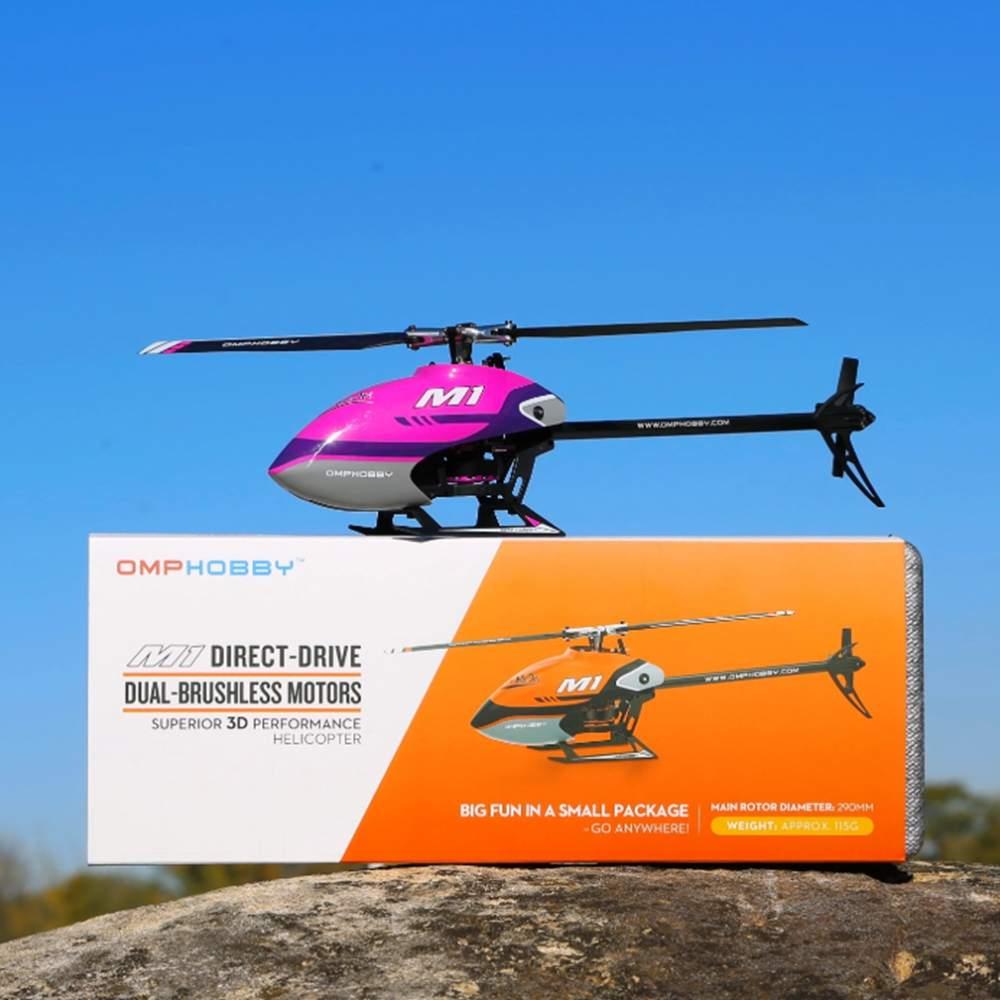 Omphobi M1 290 مللي متر 6CH ثلاثية الأبعاد Flybarless المزدوج فرش السيارات المباشر محرك RC هليكوبتر ث/قابل للتعديل وحدة تحكم في الطيران BNF