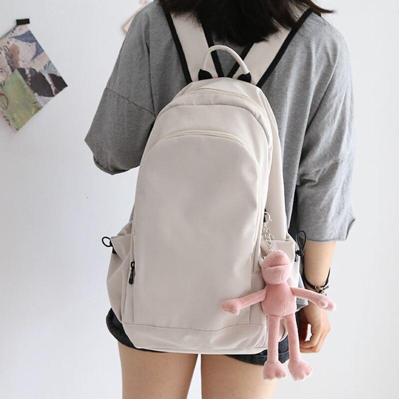 Большие вместительные одноцветные рюкзаки для ноутбука, Хлопковые женские школьные сумки для книг для студентов, путешествий, для мальчико...