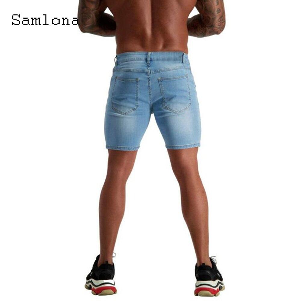 Мужские рваные джинсовые шорты с дырками, синие Лоскутные шорты из денима, повседневные пикантные короткие джинсовые шорты из денима, одежд...