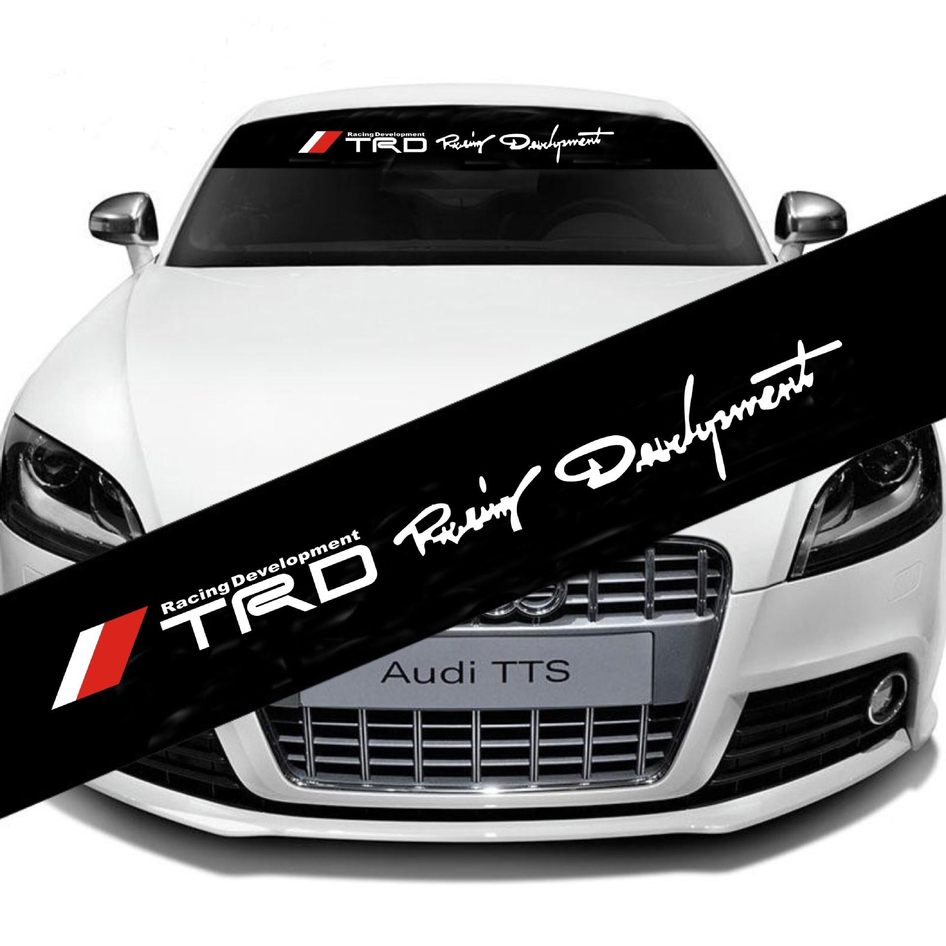 Para toyota chr prius aygo supra corolla 2015 bmw x1 x3 carro dianteiro traseiro windshield adesivo estilo do carro automóvel tuning accessori
