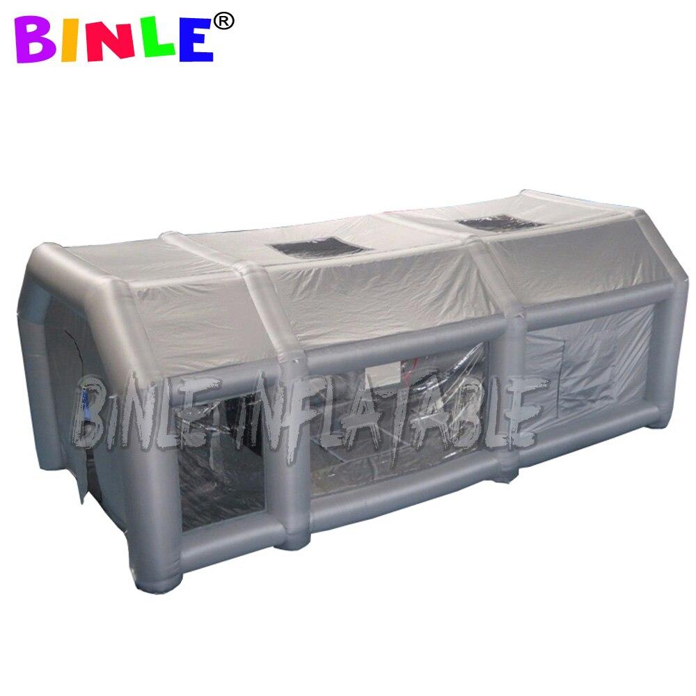 2020 nouveauté extérieure gonflable Cabine De Pulvérisation Avec deux ventilateurs portable Garage gonflable de Bâche De Voiture Peinture Lavage Tente Dabri