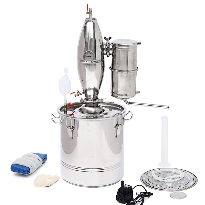 Новый домашний дистиллятор объемом 20L-30L-50L -70L для бойлера, спиртовое масло для воды, набор для пивоварения из нержавеющей стали, для изготовл...