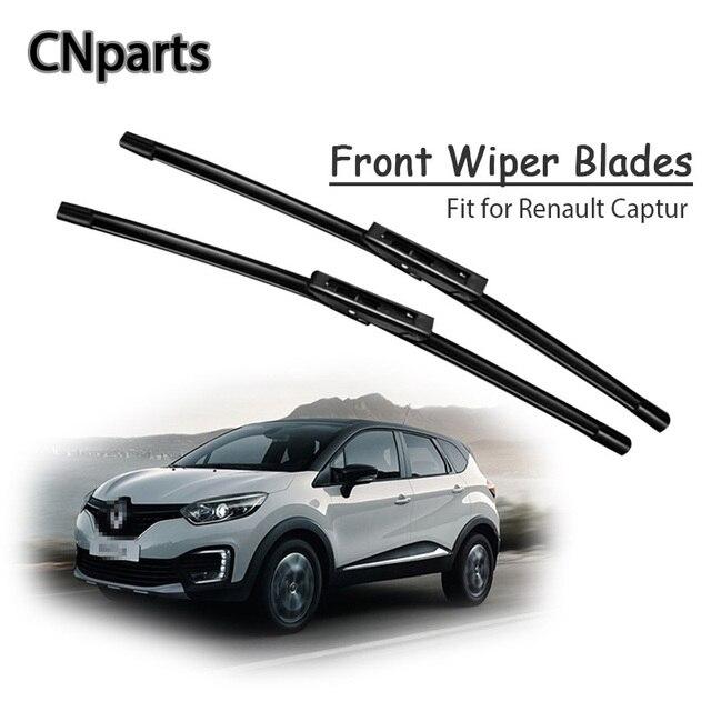 Auto Parts  1Set Rubber Car Front Wiper Blade Kit For Renault Captur 2018-2013 Windscreen Original replace Accessories